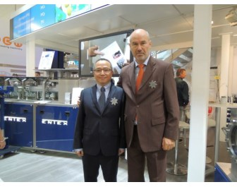 Thomas Malzahn, Sales / Marketing Manager of Entex (right) and Chester Du, General Manager of Entex in Shanghai