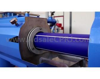 Extrusion of PP pipes reinforced with glass fibers and mineral filler.