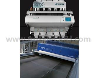 Complete optical sorting solution, from Buhler Sortex and NRT, for PET and HDPE plastic bottle and flake sorting.