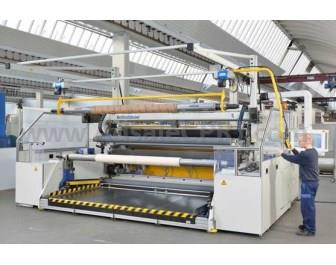 The horizontal slide winder of the MIDEX-HSD model type newly designed by Reifenhäuser Cast Sheet Coating enables to produce reel diameters of up to 1,200mm.