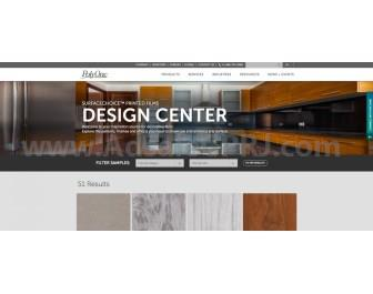 The new online SurfaceChoice Design Center houses over 50 different decorative film patterns for visual inspiration.