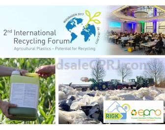 The 2nd International Recycling Forum will take place in Wiesbande, Germany from April 26-28 with a focus on agricultural plastics.